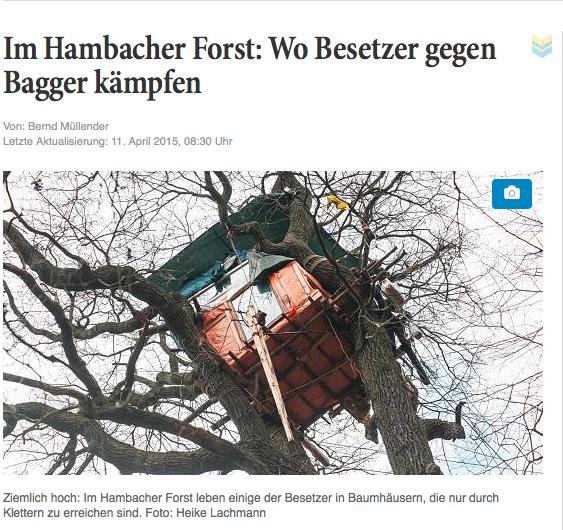 Im Hambacher Forst: Wo Besetzer gegen Bagger kämpfen, Aachener Nachrichten