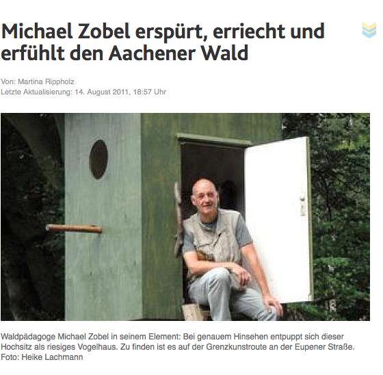 Michael Zobel erspürt, erriecht und erfühlt den Aachener Wald